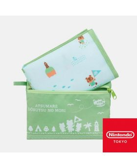 Animal Crossing Nintendo Store Limited Goods New Horizons Pouch and Sheet Set
