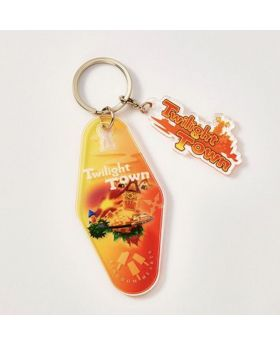 Kingdom Hearts Melody Of Memory Cafe Hotel Keychain Twilight Town