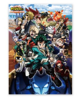 Boku No Hero Academia WORLD HEROES MISSION Movie Goods Clear Poster