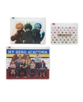 Boku No Hero Academia WORLD HEROES MISSION Movie Goods Zip Clear Pouch Set