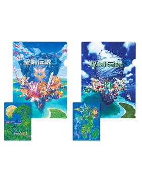 Trials of Mana Square Enix Cafe Goods Clear File SET