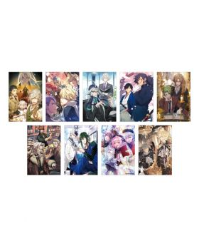 Fate/Grand Order Chaldea Boys Cafe Postcard 2019 Ver. SET