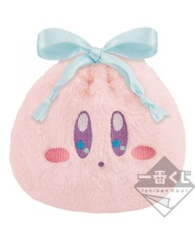 Ichiban Kuji Kirby Cloudy Candy Fluffy Kirby Face Pouch INDIVIDUALS