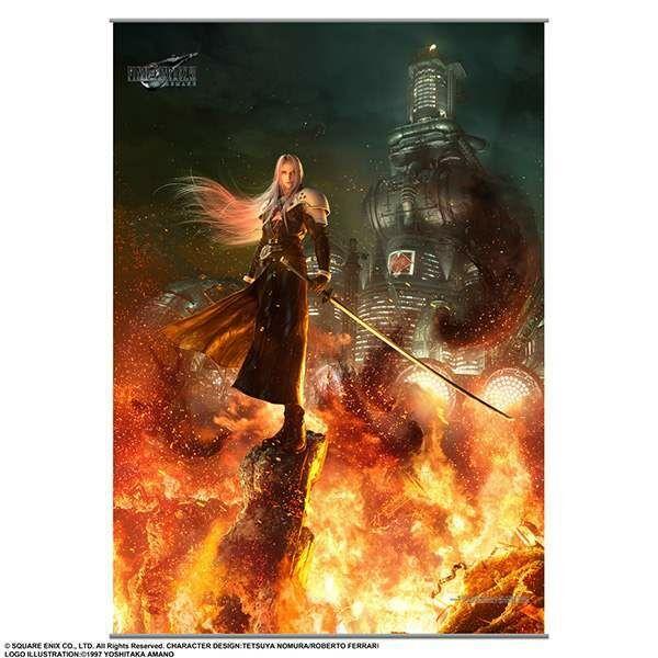 Final Fantasy Vii Remake Tapestry Wall Scroll Vol 2 Sephiroth