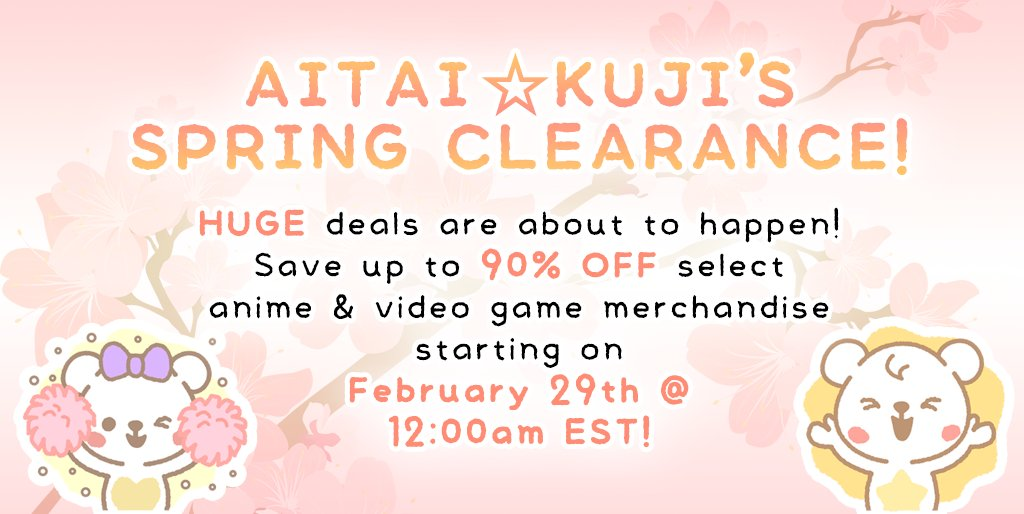 SPRING CLEARANCE Sale Starts 2/29 at 12:00am EST!